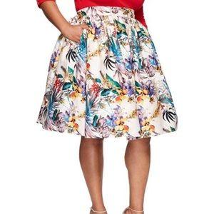 Unique Vintage tiki skirt
